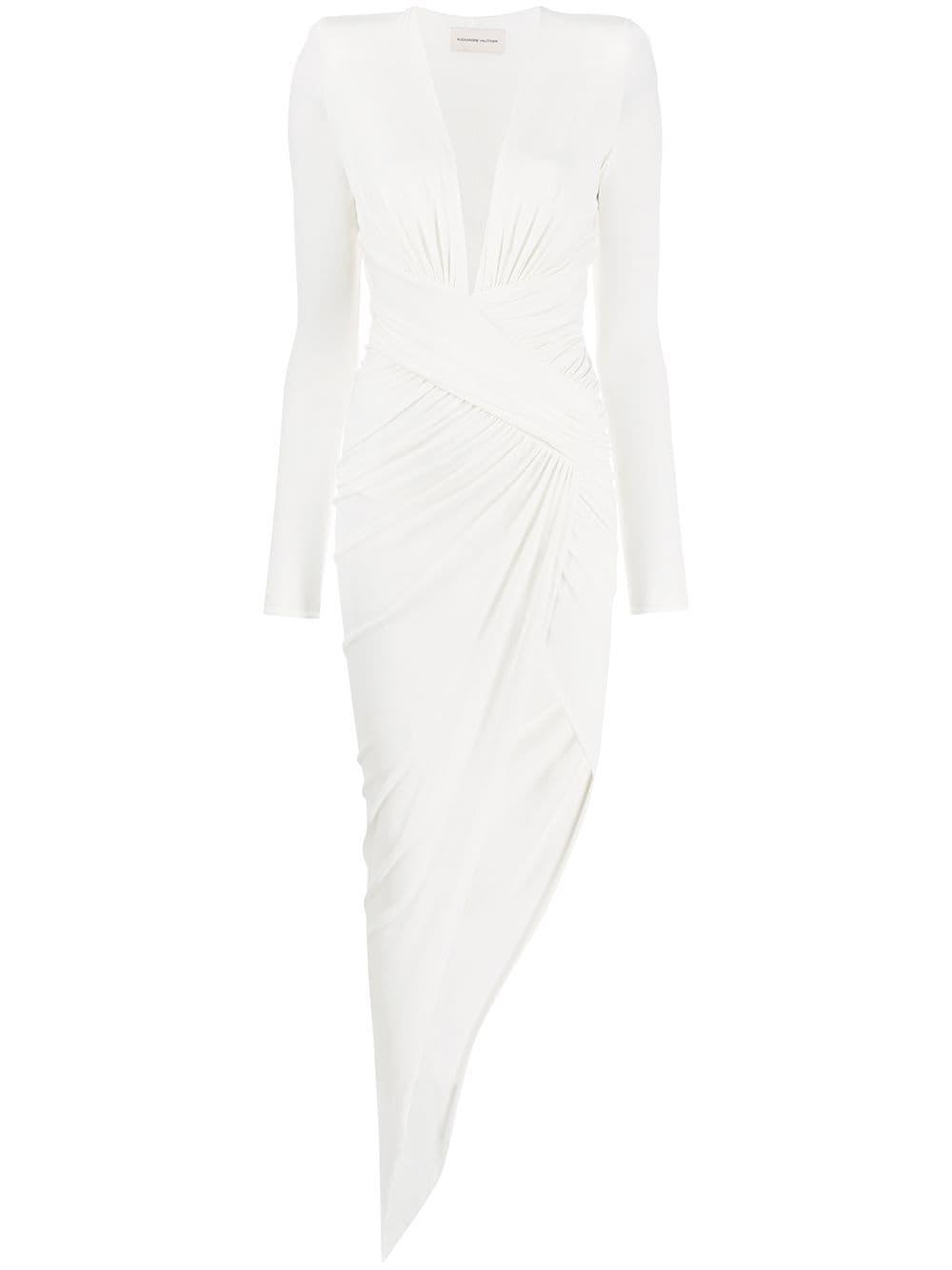 Bílé asymetrické šaty, ALEXANDRE VAUTHIER