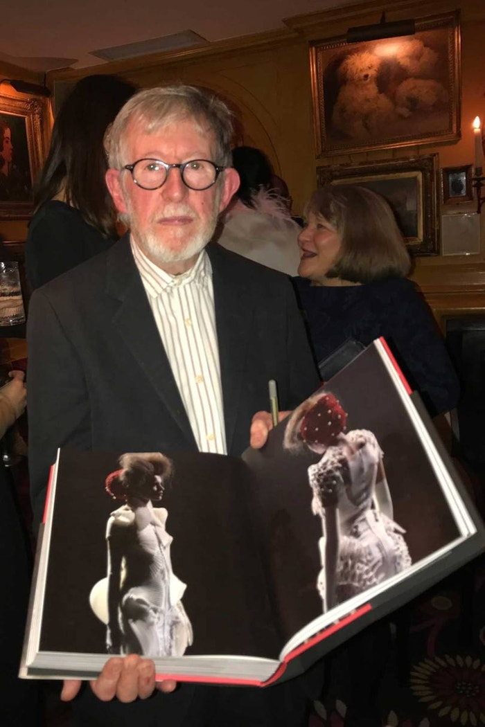 Chris Moore in November 2017 at the book launch for Catwalking: Photographs by Chris Moore, written with Alexander Fury.
