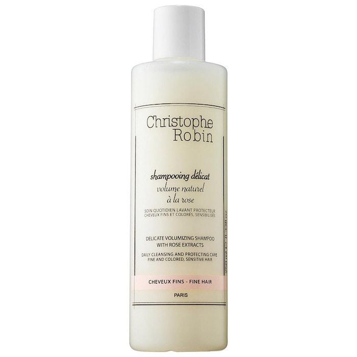Šampon pro jemné vlasy s výtažky z růží, Christophe Robin, 28 €