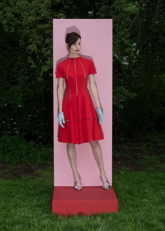 Červené šaty z kolekce Pop by Zuzana Kubíčková