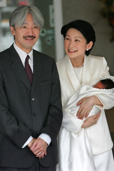 Japonský princ Akišino s manželkou Kiko a synem Hisahitem, 2006
