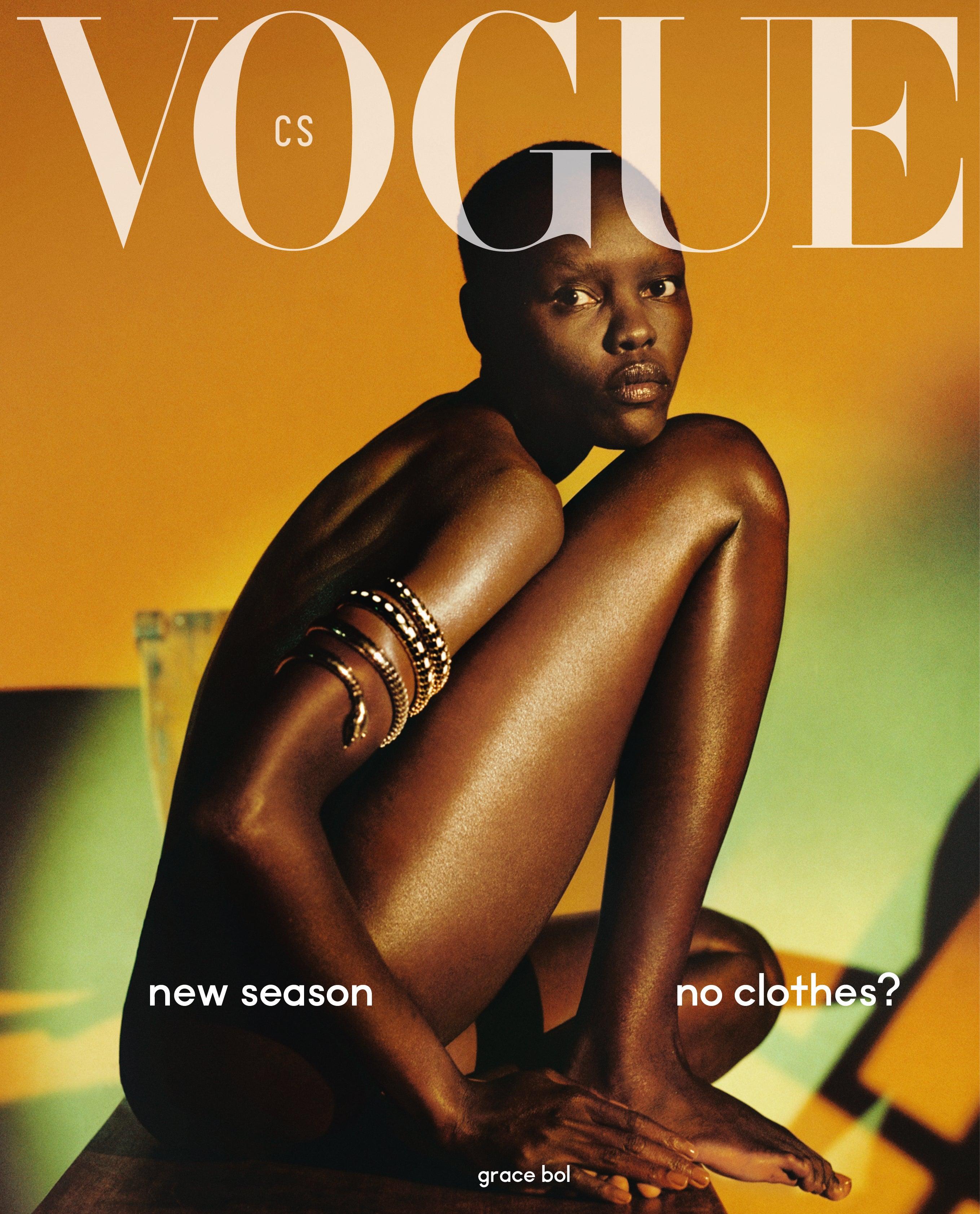 Vogue CS, číslo 12, září 2019 Autor: Dan Beleiu, Cover star: Grace Bol
