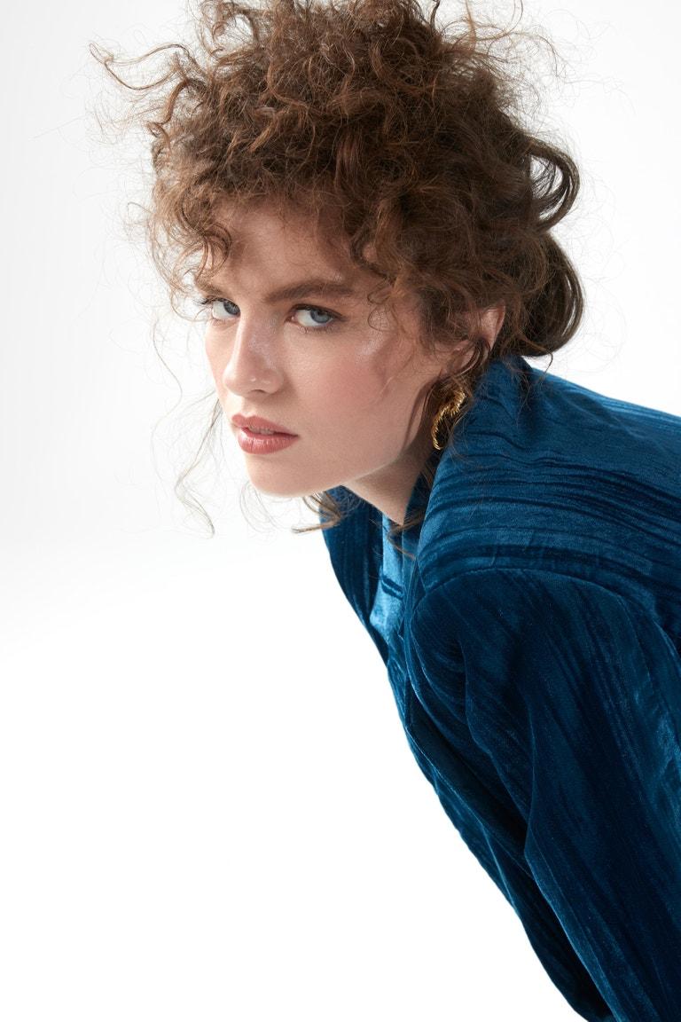 Oblek, Zara; vintage doplňky