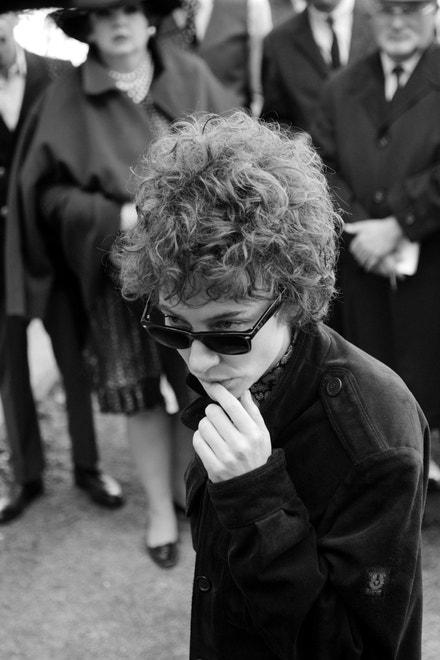 Cate Blanchett jako Bob Dylan ve filmu Beze mě: Šest tváří Boba Dylana (I'm not there, 2007).