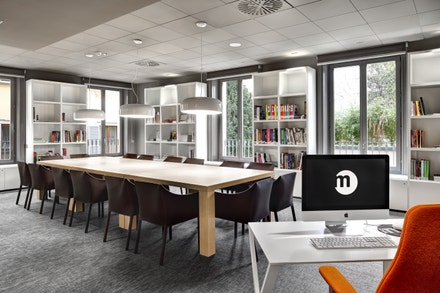 Istituto Marangoni: milánský design kampus, knihovna