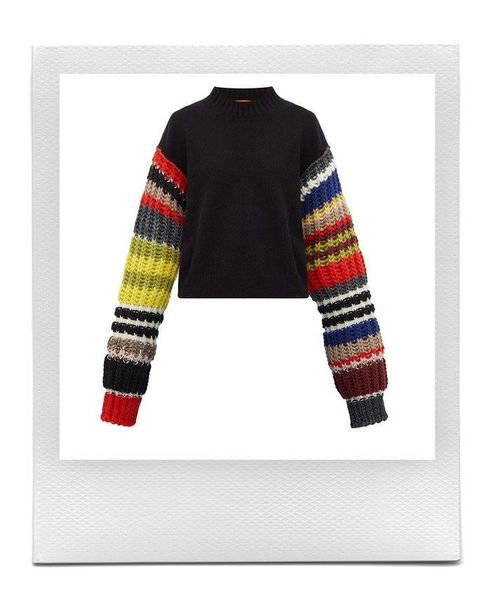 Rib-knitted sleeve wool-blend sweater, Colville, sold by Matches Fashion, 850 EUR