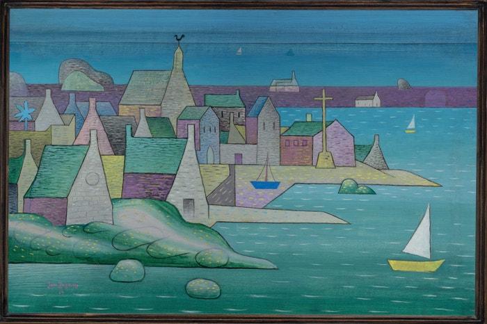 Jan Zrzavý, Přístav v Bretagni Ploumanac'h, 1930