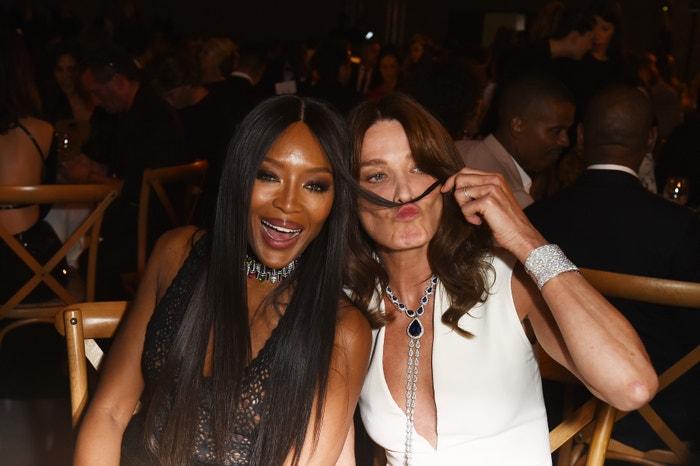 Naomi Campbell a Carla Bruni