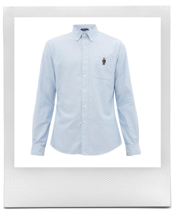 Modrá košile s medvídkem, Polo Ralph Lauren, prodává Matchesfashion, € 115 Autor: Matchesfashion
