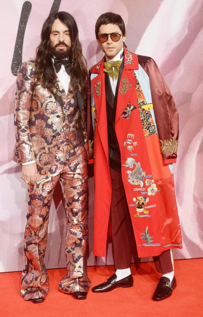 Jared Leto a Alessandro Michele na Fashion Awards 2016 v Londýně, prosinec 2016    Autor: Rune Hellestad/Getty Images