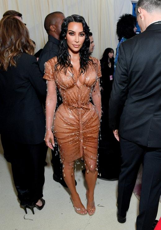Kim Kardashian na Met Gala 2019, téma Camp: Notes on Fashion, Metropolitní muzeum v New Yorku, květen 2019