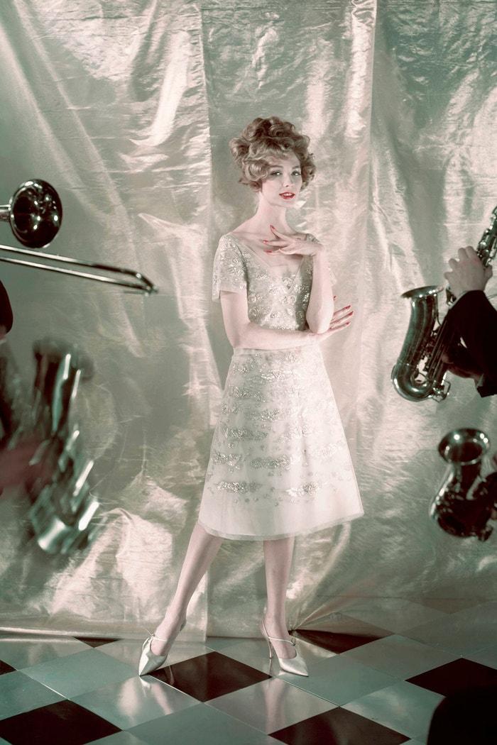 Vogue 1958, šaty Dior Autor: Henry Clarke/Condé Nast via Getty Images