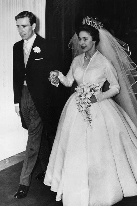 Princezna Margaret a Antony Armstrong-Jones na svatební fotografii, 1960