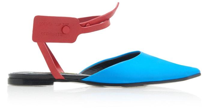 Modročervené sandálky, Off-White c/o Virgil Abloh, prodává Modaoperandi, 576 €