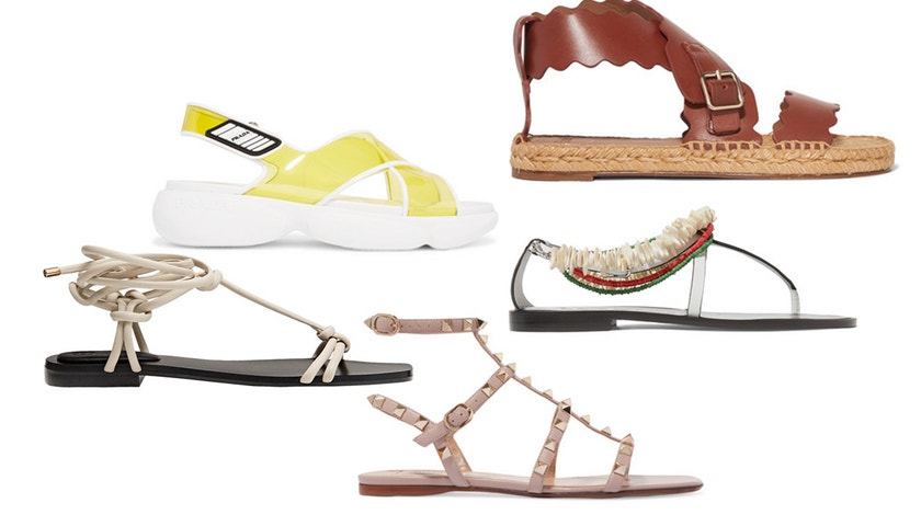Top výběr sandálků bez podpatku