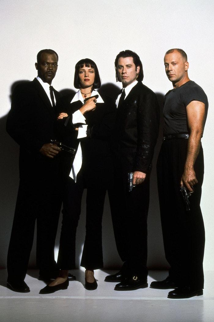 Bruce Willis a Samuel L. Jackson ve filmu Pulp Fiction: Historky z podsvětí, 1994