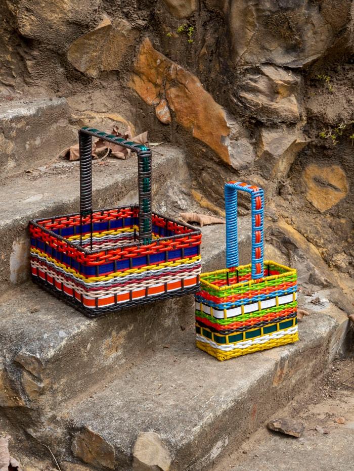 Košíky z kolekce Zooterico, na níž značka Marni spolupracovala s Farfetch