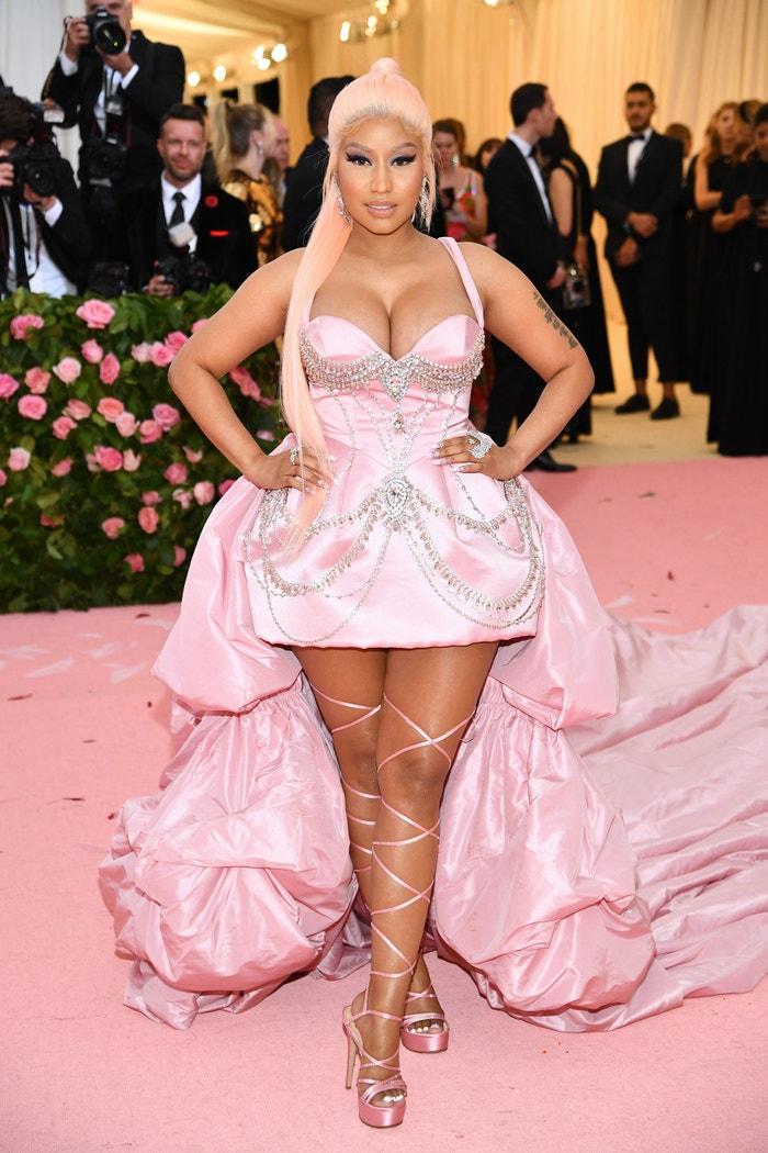"Nicki Minaj in Prabal Gurung at the 2019 Met Gala celebrating ""Camp: Notes on Fashion"" in New York on May 06, 2019.   Autor: Getty Images"