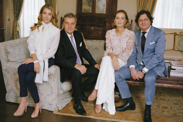 Zleva: Lucrezia Buccellati, Andrea Buccellati, Maria Cristina Buccellati a Luca Buccellati