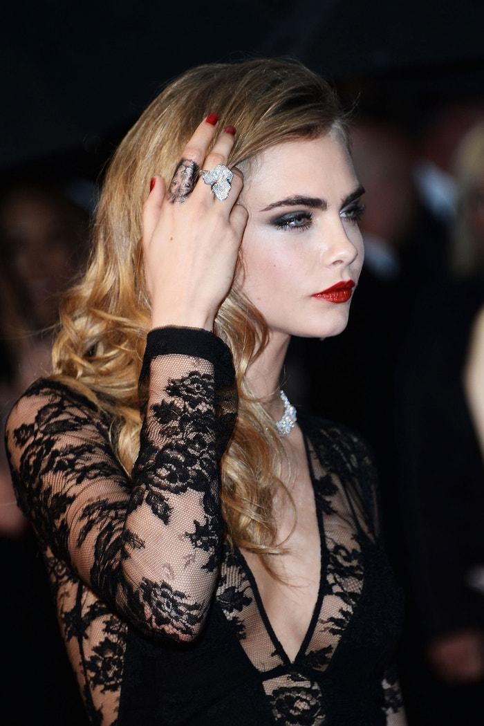 Cara Delevingne, premiéra filmu Velký Gatsby, filmový festival v Cannes, květen 2013 Autor: Venturelli/WireImage