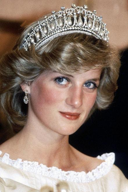 Princezna Diana s tiárou Cambridge Lover's Knot