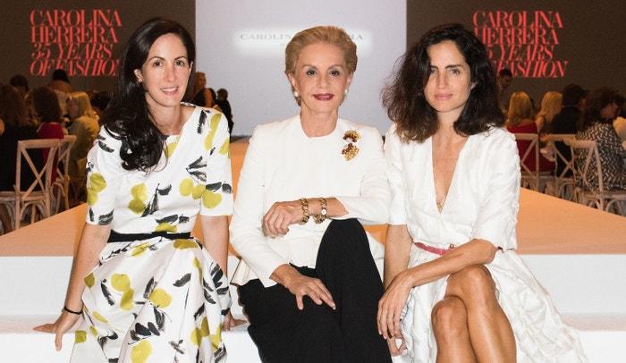 Zleva: Patricia Herrera Lansing, Carolina Herrera a Carolina Herrera de Baez