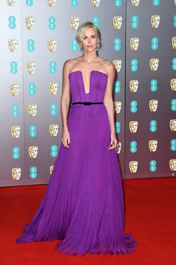 Charlize Theron in Dior at the BAFTA Awards. Autor: Getty Images