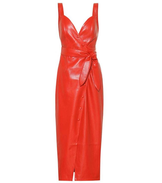šaty z umělé kůže, Nanushka, €540
