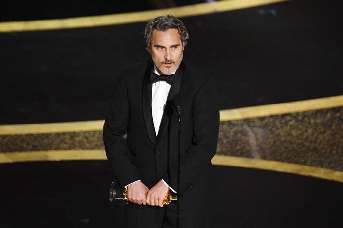 Joaquin Phoenix na předávání Oscarů, 2020