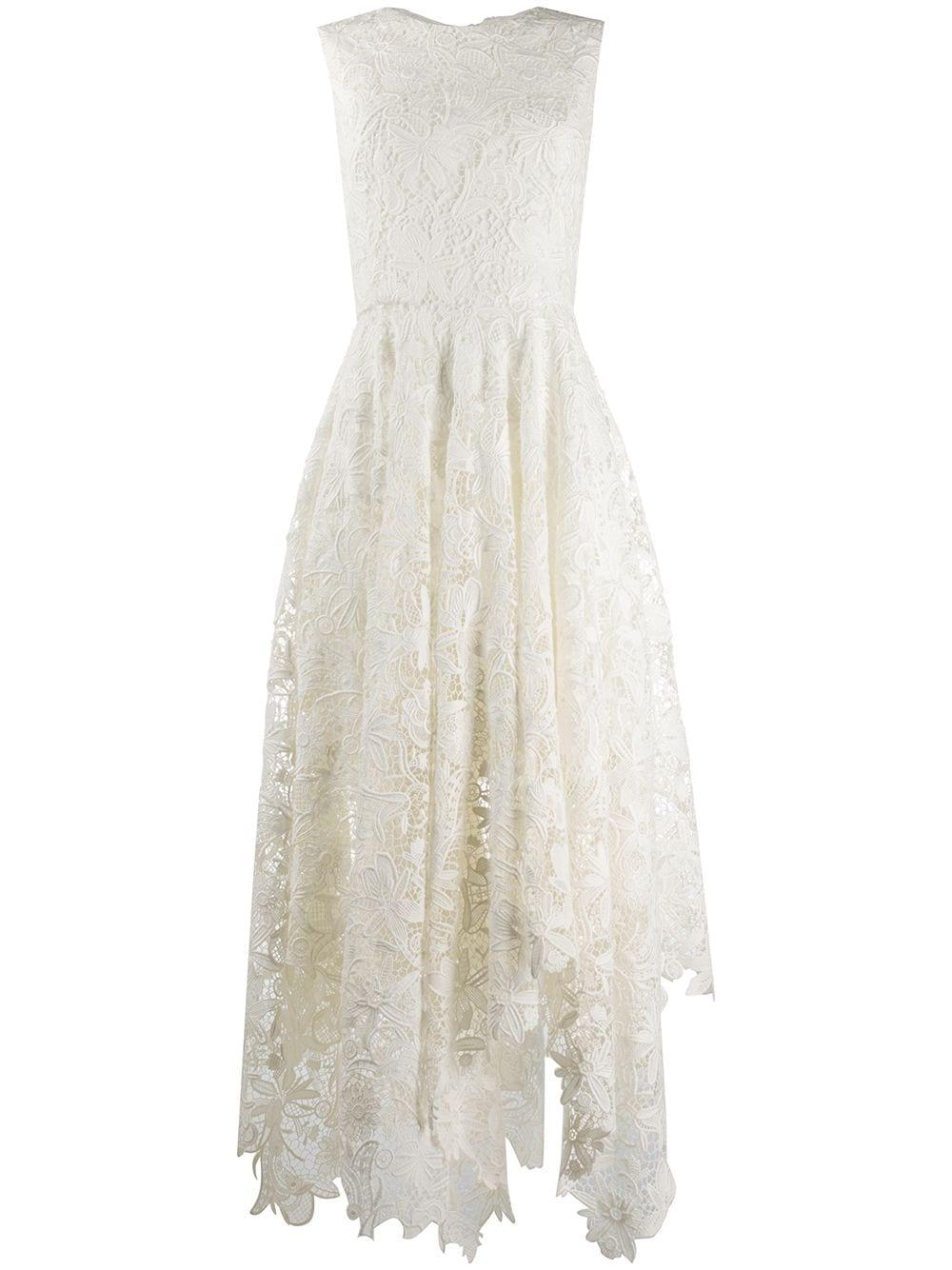 Asymetrické krajkové šaty, ALEXANDER MCQUEEN