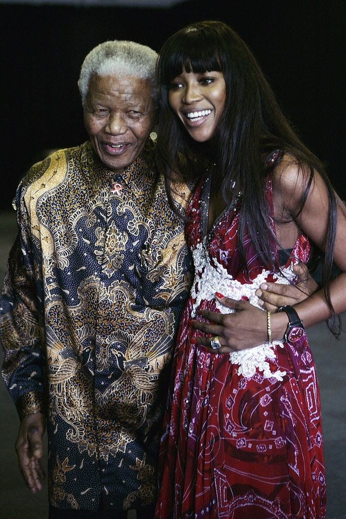Naomi Campbell a Nelson Mandela