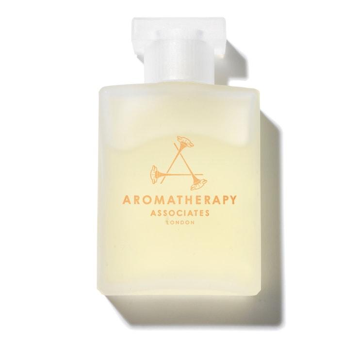 Koupelový a sprchový olej De-Stress Mina s heřmánkem, AROMATHERAPY ASSOCIATES, prodává Mandarin Oriental Spa Prague.