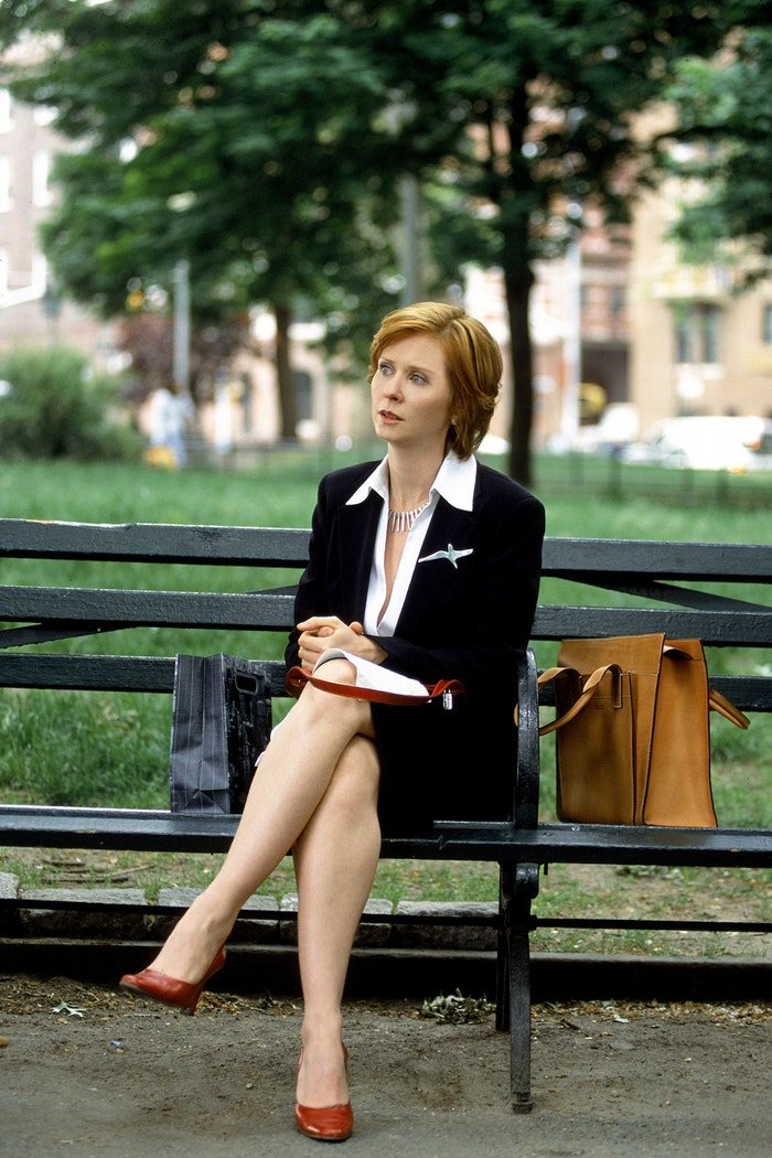 Cynthia Nixon v roli Mirandy Hobbes