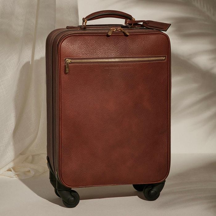 Kožený kufr na kolečkách, Brunello Cucinelli, brunellocucinelli.com, 3 900 € Autor: Archiv značky