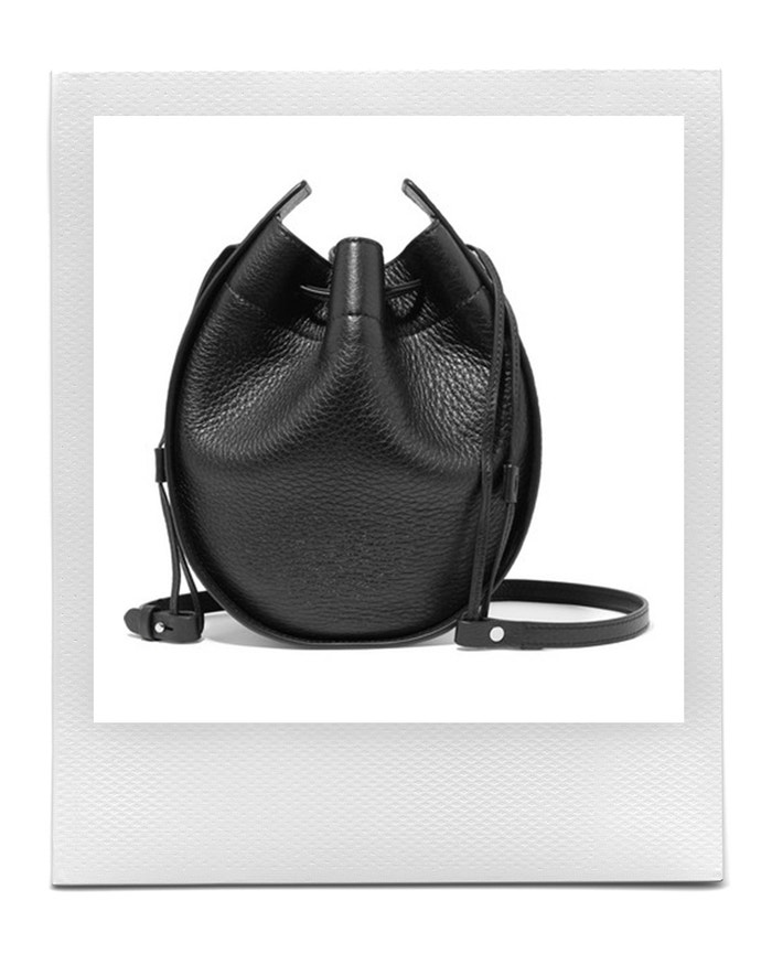Textured-leather shoulder bag, The Row, sold by Net-A-Porter, 1,050 EUR