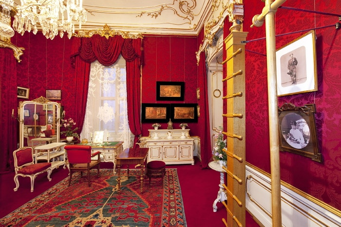 Císařovny šatna/posilovna v paláci Hofburg