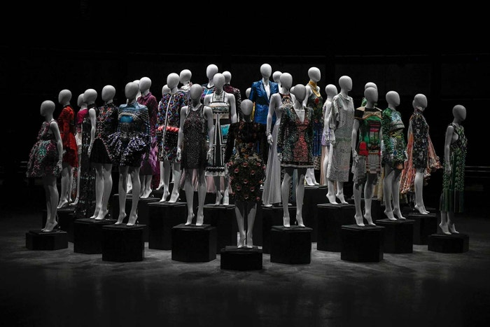Archive pieces from the past 10 years of Mary Katrantzou's label. The key looks were explored and updated for the Spring/Summer 2019 collection