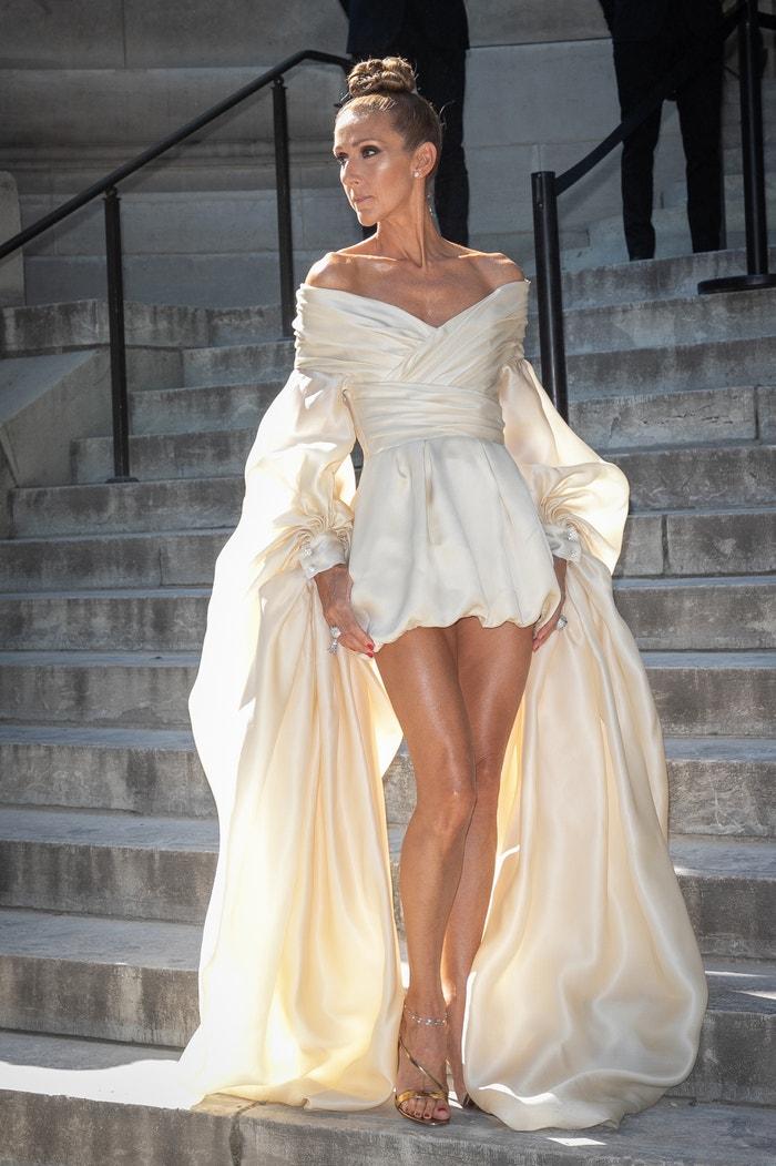 Céline Dion v modelu Alexandre Vauthier Autor: Marc Piasecki (Getty Images)