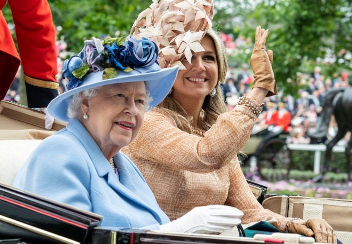 Královna Alžběta II. a Máxima Nizozemská Autor: Mark Cuthbert/Getty Images