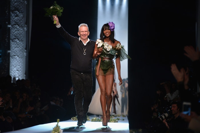 Jean Paul Gaultier a Naomi Campbell, Paris Fashion Week Haute Couture Spring/Summer 2015 Autor: Francois G. Durand/WireImage