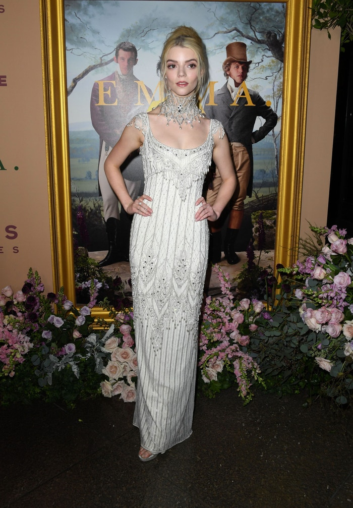 Wearing vintage Bob Mackie at the Emma premiere in Los Angeles on February 18.