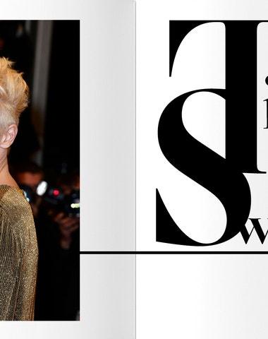 Tilda Swinton hair style