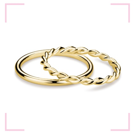 Muselet Ring Set stříbrných, pozlacených prstenů dle návrhu designérky Anny Marešové z kolekce Champagne, MOOYYY, prodává MOOYYY, 2 100 Kč