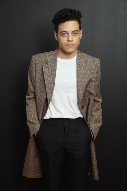 Rami Malek na přehlídce Calvin Klein Collection v New Yorku, září 2018