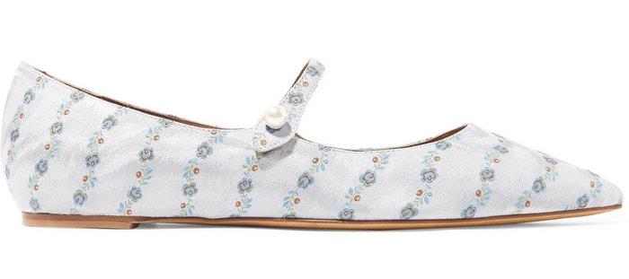 Květované balerínky Hermione, Tabitha Simmons, prodává Modaoperandi, 595 €