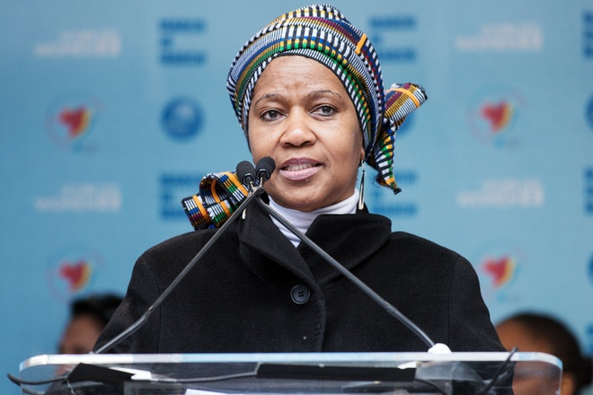 Phumzile Mlambo-Ngcuka, International Women's Day March, 2015