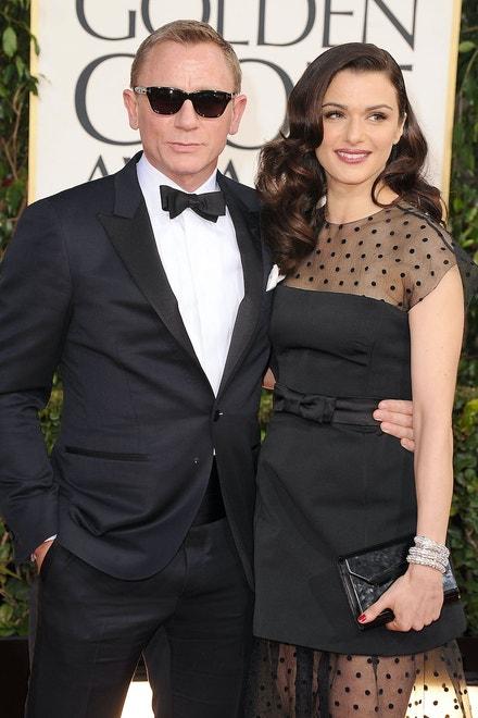 Daniel Craig s manželkou Rachel Weisz na Zlatých glóbech