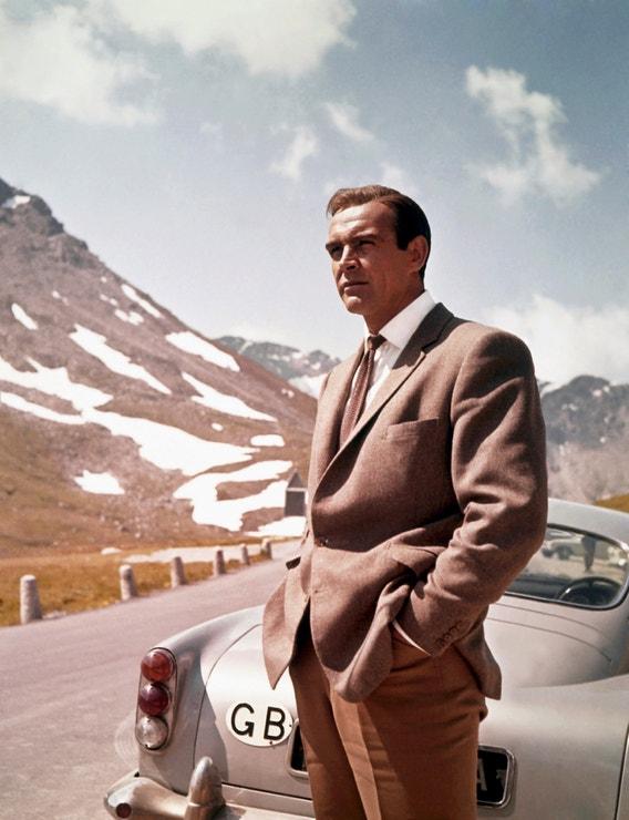 Sean Connery ve filmu Goldfinger, 1964