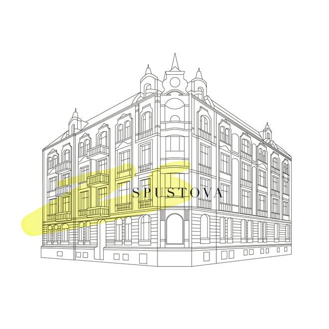 Logo nové značky Spustova vytvořené ve spolupráci s Mikinou Dimunovou
