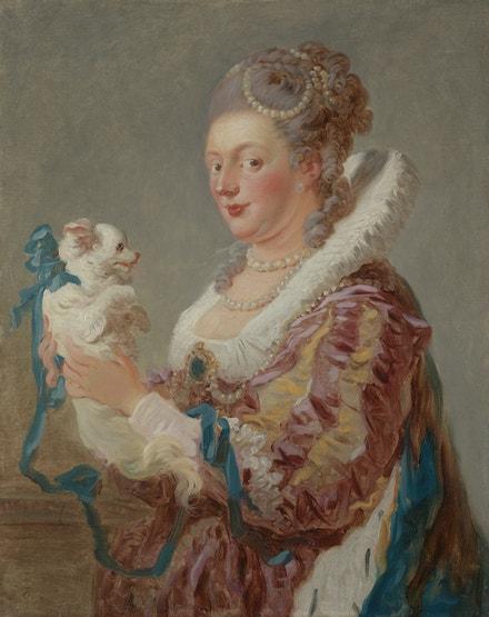 Jean-Honore Fragonard: Dáma s psíčkem, cca 1769